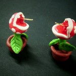 boucles d'oreille plantes piranha Mario