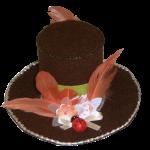 Mini chapeau feutrine