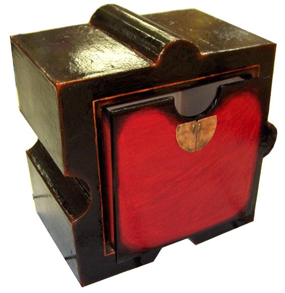 Meuble puzzle en carton sandrine lacroix slharley for Meuble en vrac
