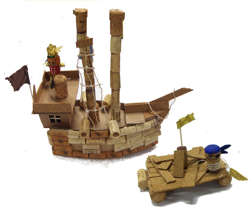 bateau pirate en bouchon de r cup ration sandrine lacroix slharley. Black Bedroom Furniture Sets. Home Design Ideas