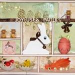 vitrine lapin de Pâques