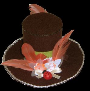 chapeau en feutrine