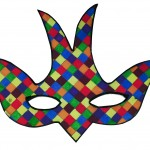 masque arlequin colombe