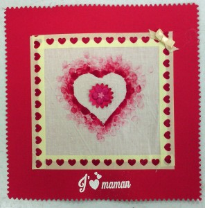 carte coeur de tissus