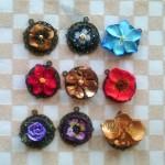 pendentifs fleurs fimo