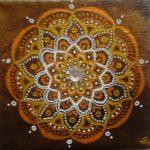 mandala de bronze